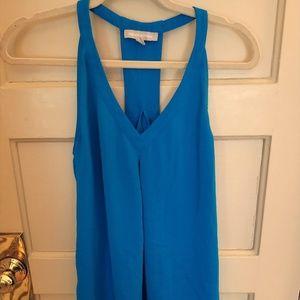 Blue racerback sleeveless top by Banana Republic